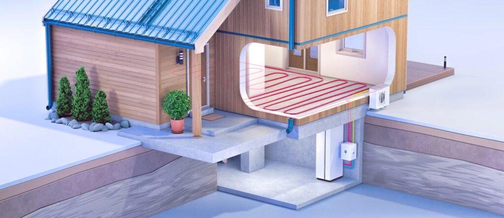Luft-til-vann-varmepumpe - vannbåren varme